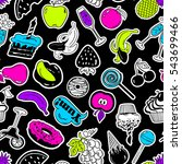 colorful funny seamless pattern ... | Shutterstock .eps vector #543699466