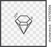 diamond vector icon. isolated...