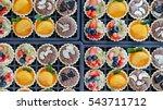 variety of fresh fruit pie tart ... | Shutterstock . vector #543711712