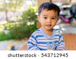 portrait happy of adorable... | Shutterstock . vector #543712945