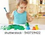 cute little toddler child... | Shutterstock . vector #543719422