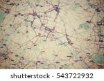 blurred of road map | Shutterstock . vector #543722932