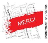 merci word cloud in different... | Shutterstock .eps vector #543730405