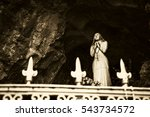 Praying Madonna Statue In Notr...