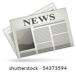 news icon. vector newspaper icon | Shutterstock .eps vector #54373594