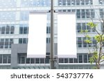large blank billboard on a... | Shutterstock . vector #543737776