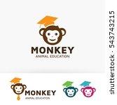 monkey education  animal ...   Shutterstock .eps vector #543743215