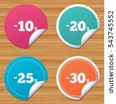 round stickers or website... | Shutterstock .eps vector #543745552