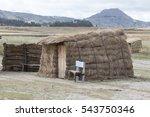 Indigenous Hay Shack In Ecuador