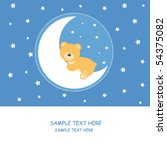 baby boy arrival announcement... | Shutterstock .eps vector #54375082