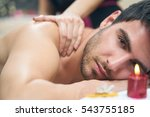 sports massage. massage... | Shutterstock . vector #543755185