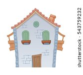cartoon styled house  vector... | Shutterstock .eps vector #543759232
