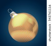 3d illustration of golden... | Shutterstock . vector #543761116