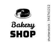bakery shop badge. chocolate... | Shutterstock .eps vector #543761212