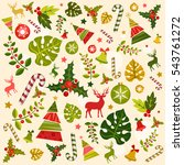 merry christmas greeting card.... | Shutterstock .eps vector #543761272