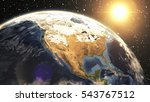 earth sunshine north america... | Shutterstock . vector #543767512
