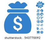 money bag icon with bonus tools ... | Shutterstock .eps vector #543770092