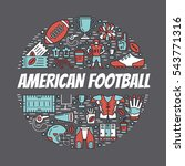 american football banner with... | Shutterstock .eps vector #543771316