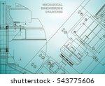 mechanical engineering drawings....   Shutterstock .eps vector #543775606