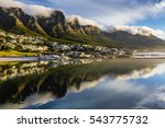 camps bay beach in cape town ... | Shutterstock . vector #543775732
