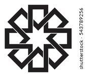 interlocking crosses  geometric ... | Shutterstock .eps vector #543789256
