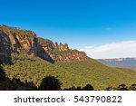 three sisters rock formation in ... | Shutterstock . vector #543790822
