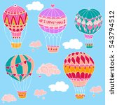 set vector illustration with... | Shutterstock .eps vector #543794512