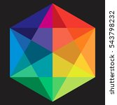 multicolor star hexagon | Shutterstock .eps vector #543798232