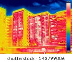 infrared thermovision image... | Shutterstock . vector #543799006