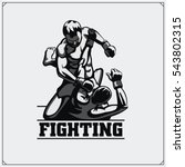 fighters of martial mixed arts. ...   Shutterstock .eps vector #543802315