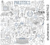 politics vector drawings... | Shutterstock .eps vector #543807412