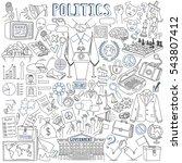 politics vector drawings... | Shutterstock .eps vector #543807412