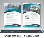 blue annual report brochure...   Shutterstock .eps vector #543810205