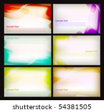 gift card templates | Shutterstock .eps vector #54381505