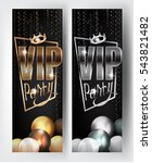 vip gold and silver party... | Shutterstock .eps vector #543821482