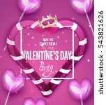 valentine's day greeting card... | Shutterstock .eps vector #543821626