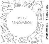 house remodel horizontal banner....   Shutterstock .eps vector #543826102