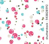 polka dot background. abstract... | Shutterstock .eps vector #543828592
