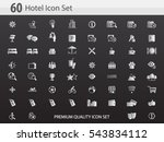 hotel icon set   hotel amenities | Shutterstock .eps vector #543834112
