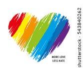 lgbt heart in vector format.... | Shutterstock .eps vector #543840262