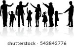 vector silhouette of family. | Shutterstock .eps vector #543842776