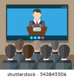 video conference concept. room... | Shutterstock .eps vector #543845506