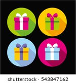 present box  gift icon  vector... | Shutterstock .eps vector #543847162