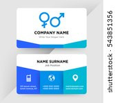 template of business card for...   Shutterstock .eps vector #543851356