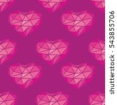 pink pattern with heart. ... | Shutterstock .eps vector #543855706