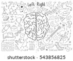 concept of the human brain | Shutterstock .eps vector #543856825