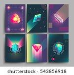 retro trendy vector hipster... | Shutterstock .eps vector #543856918