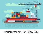 transport cargo sea ship... | Shutterstock .eps vector #543857032