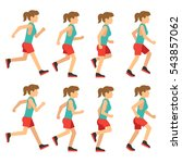 running woman  female runner... | Shutterstock .eps vector #543857062