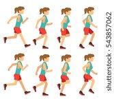 running woman  female runner... | Shutterstock .eps vector #543857062